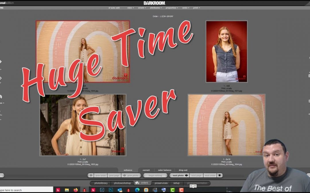 How to add photo templates to print packages using Darkroom software