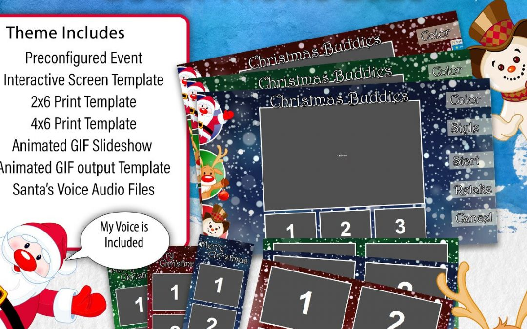 Free Christmas Templates Theme with the Purchase of Darkroom Booth